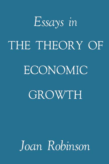 Cover of 'Essays in the Theory of Economic Growth'