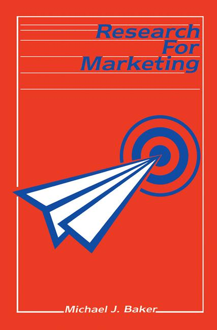 Cover of 'Research for Marketing'