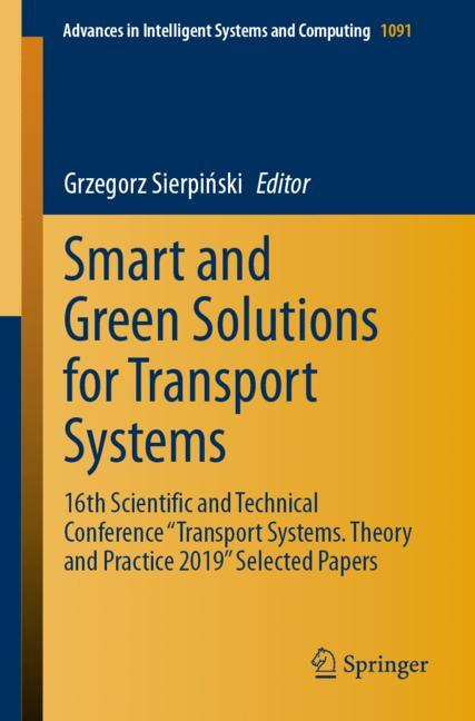 Cover of 'Smart and Green Solutions for Transport Systems'