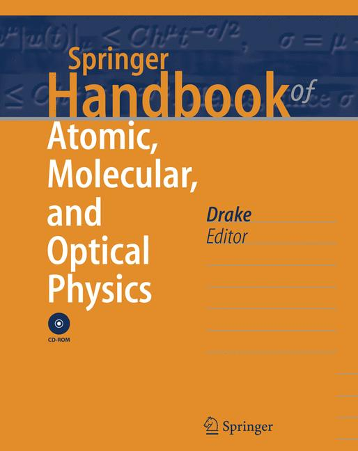 Cover of 'Springer Handbook of Atomic, Molecular, and Optical Physics'