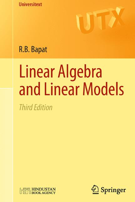 Cover of 'Linear Algebra and Linear Models'