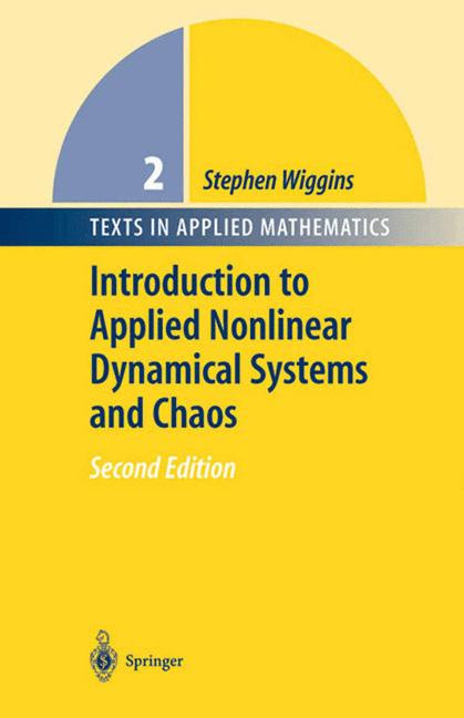 Cover of 'Introduction to applied nonlinear dynamical systems and chaos'