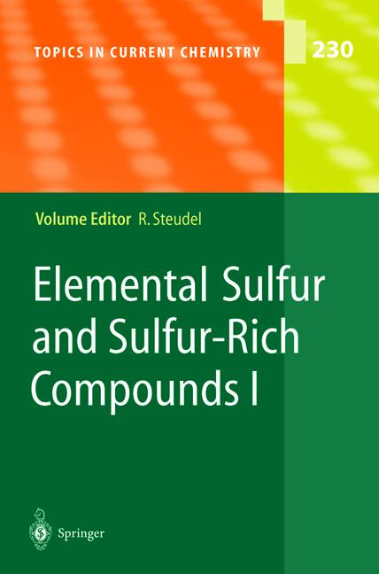 Cover of 'Elemental Sulfur and Sulfur-Rich Compounds I'