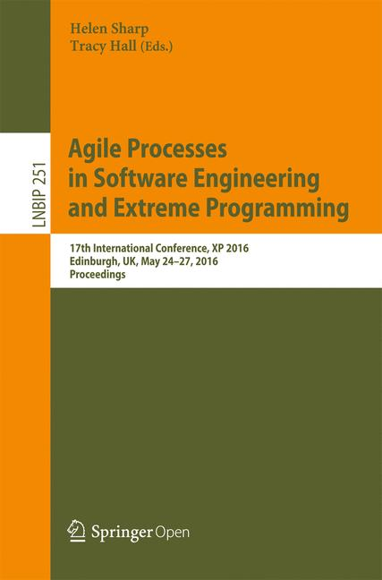 Cover of 'Agile Processes, in Software Engineering, and Extreme Programming'