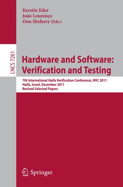 Cover of 'Hardware and Software: Verification and Testing'