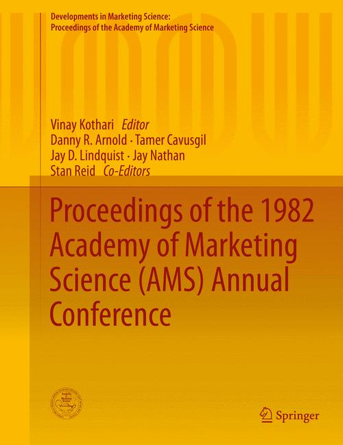 Cover of 'Proceedings of the 1982 Academy of Marketing Science (AMS) Annual Conference'