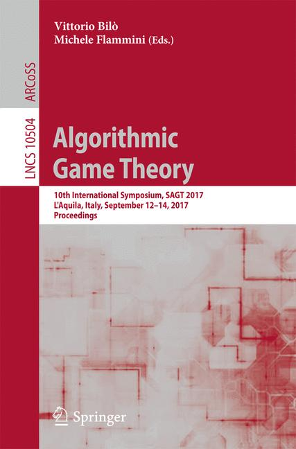 Cover of 'Algorithmic Game Theory'