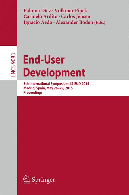 Cover of 'End-User Development'
