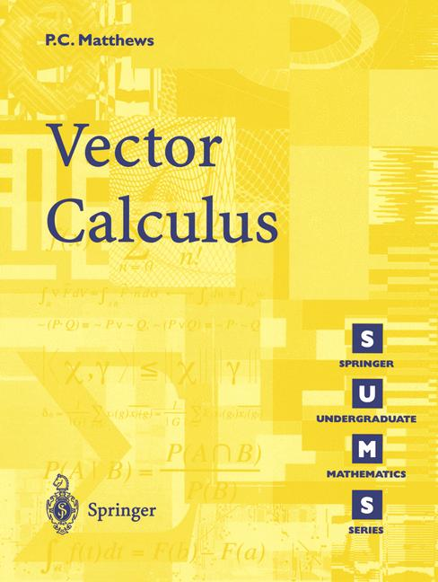 Cover of 'Vector Calculus'