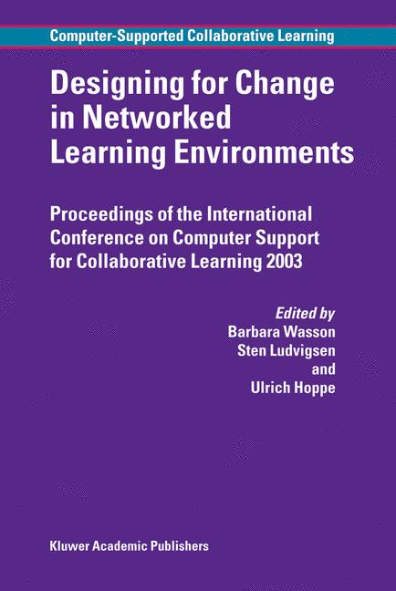 Cover of 'Designing for Change in Networked Learning Environments'