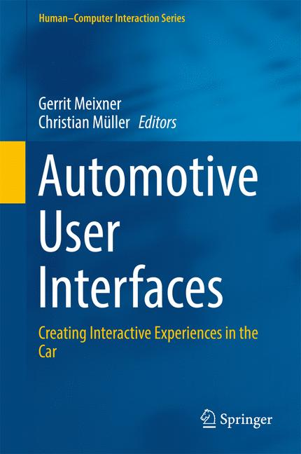 Cover of 'Automotive User Interfaces'