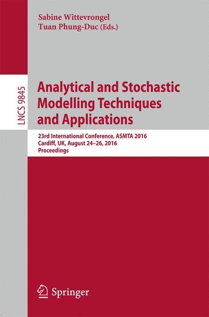 Cover of 'Analytical and Stochastic Modelling Techniques and Applications'