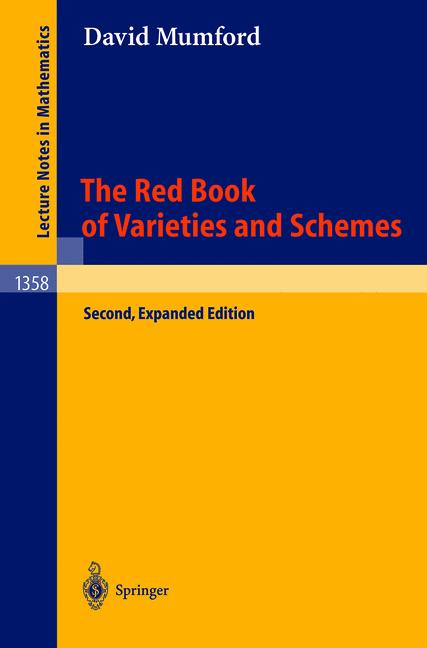 Cover of 'The Red Book of Varieties and Schemes'