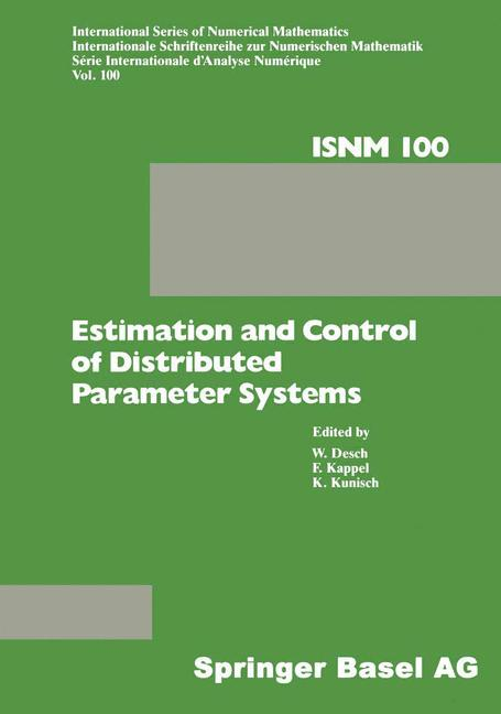 Cover of 'Estimation and Control of Distributed Parameter Systems'