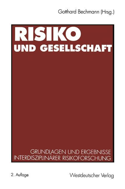 Cover of 'Risiko und Gesellschaft'