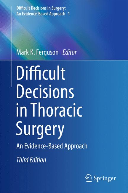 Cover of 'Difficult Decisions in Thoracic Surgery'
