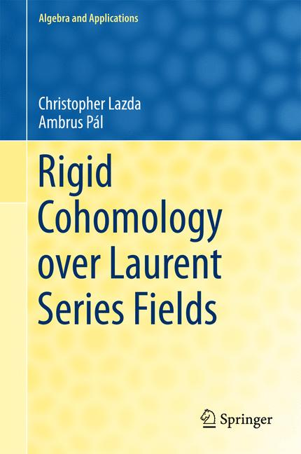 Cover of 'Rigid Cohomology over Laurent Series Fields'
