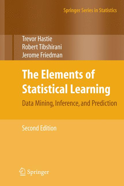Cover of 'The Elements of Statistical Learning'