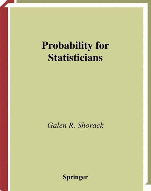 Cover of 'Probability for Statisticians'