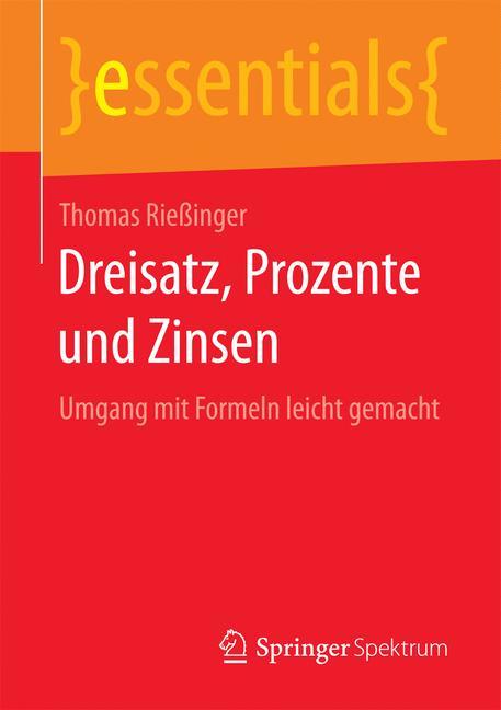 Cover of 'Dreisatz, Prozente und Zinsen'