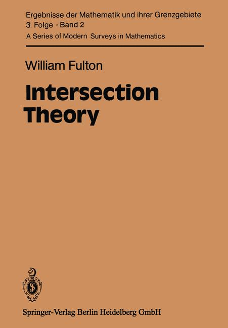 Cover of 'Intersection Theory'