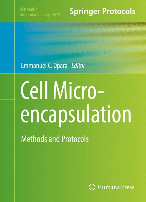 Cover of 'Cell Microencapsulation'