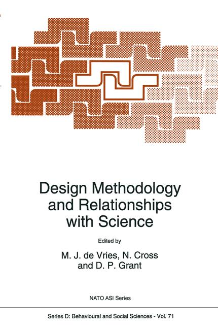 Cover of 'Design Methodology and Relationships with Science'