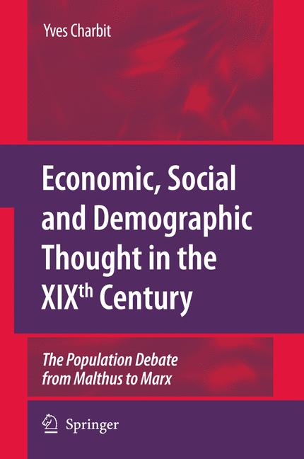 Cover of 'Economic, Social and Demographic Thought in the XIXth Century'