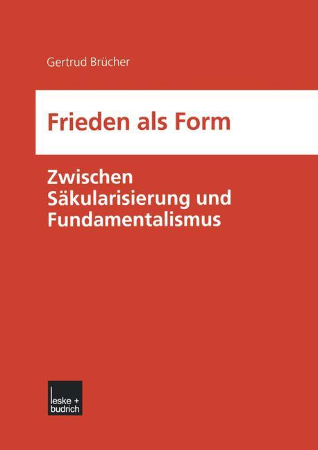 Cover of 'Frieden als Form'