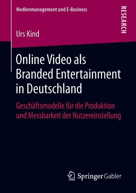 Cover of 'Online Video als Branded Entertainment in Deutschland'