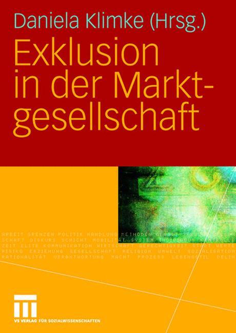 Cover of 'Exklusion in der Marktgesellschaft'