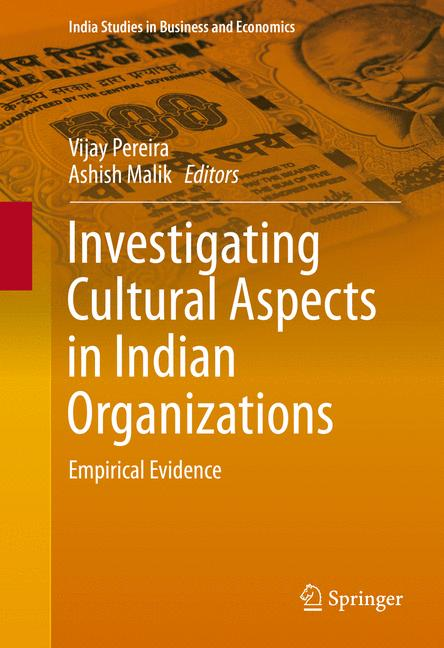 Cover of 'Investigating Cultural Aspects in Indian Organizations'