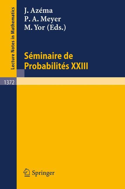 Cover of 'Séminaire de Probabilités XXIII'