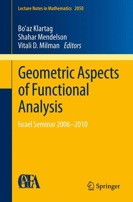 Cover of 'Geometric Aspects of Functional Analysis'