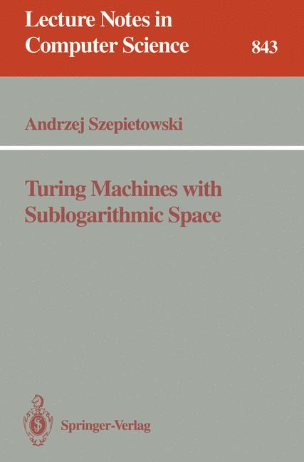 Cover of 'Turing Machines with Sublogarithmic Space'
