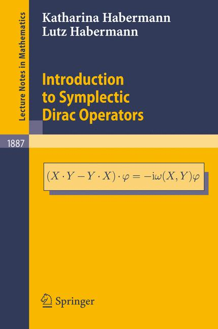 Cover of 'Introduction to symplectic Dirac operators'