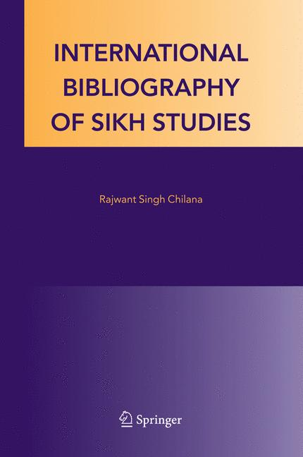 Cover of 'International bibliography of Sikh studies'