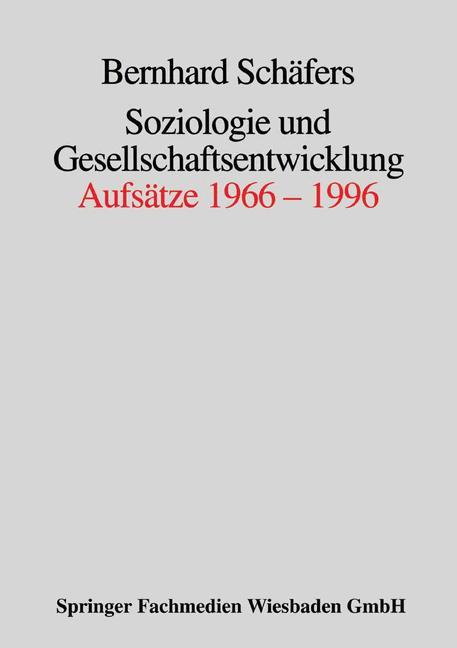 Cover of 'Soziologie und Gesellschaftsentwicklung'