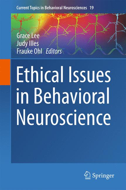 Cover of 'Ethical Issues in Behavioral Neuroscience'