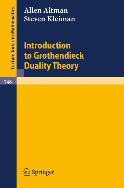 Cover of 'Introduction to Grothendieck Duality Theory'