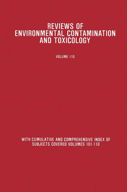 Cover of 'Reviews of Environmental Contamination and Toxicology'