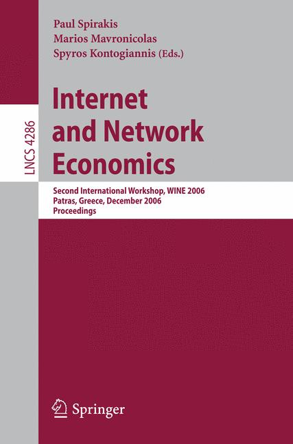 Cover of 'Internet and Network Economics'