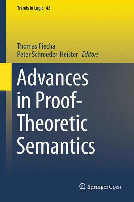 Cover of 'Advances in Proof-Theoretic Semantics'