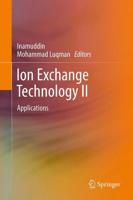 Cover of 'Ion Exchange Technology II'