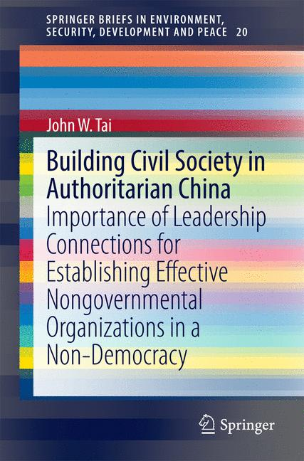 Cover of 'Building Civil Society in Authoritarian China'