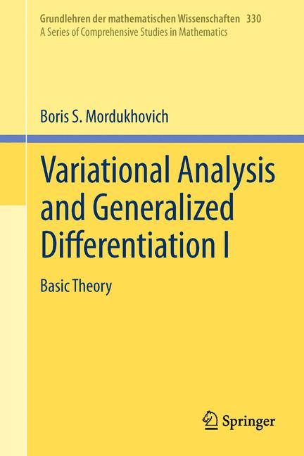 Cover of 'Variational Analysis and Generalized Differentiation I'