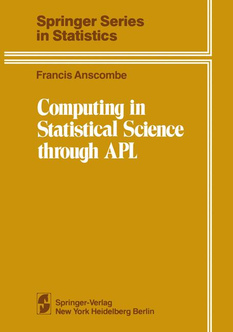 Cover of 'Computing in Statistical Science through APL'