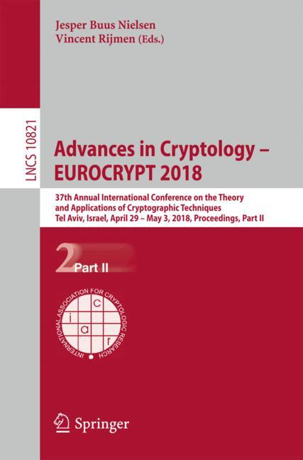 Cover of 'Advances in Cryptology – EUROCRYPT 2018'