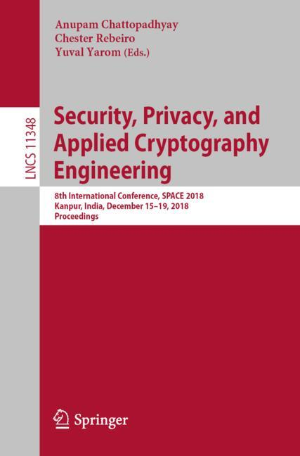 Cover of 'Security, Privacy, and Applied Cryptography Engineering'
