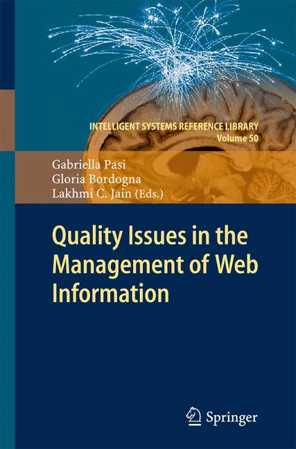 Cover of 'Quality Issues in the Management of Web Information'